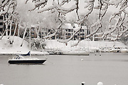 River view following snowfall