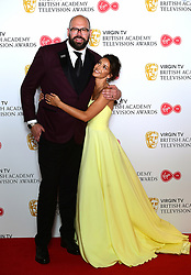 Tom Davis and Michelle Keegan in the press room at the Virgin TV British Academy Television Awards 2018 held at the Royal Festival Hall, Southbank Centre, London.