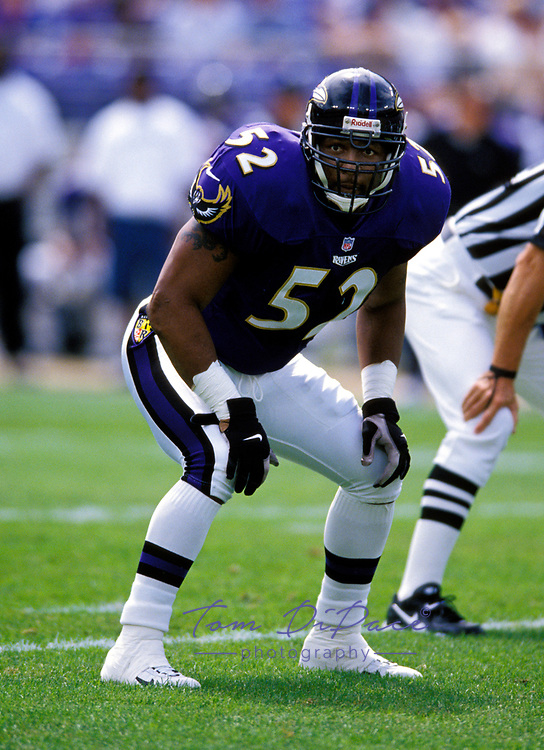 Baltimore Ravens Ray Lewis plays in game Circa 1996-2000.<br /> <br /> (Tom DiPace via AP)