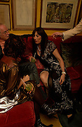 Angelica Huston. Artists Independent Networks  Pre-BAFTA Party at Annabel's co hosted by Charles Finch and Chanel. Berkeley Sq. London. 11 February 2005. . ONE TIME USE ONLY - DO NOT ARCHIVE  © Copyright Photograph by Dafydd Jones 66 Stockwell Park Rd. London SW9 0DA Tel 020 7733 0108 www.dafjones.com