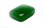 Jade Semiprecious Gemstone on white background