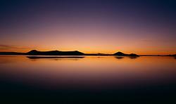Mývatn við sólsetur / The lake Myvatn during sunset