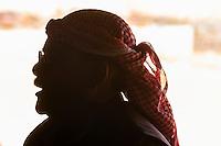 Bedouin man in tent in the Negev Desert at Chan Hashayarot, Israel.