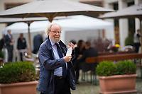 Berlin, 27.09.2021: Wolfgang Thierse, Vorsitzender des Kuratoriums der Bundeskanzler-Willy-Brandt-Stiftung, auf dem Weg zum St. Michael-Jahresempfang.