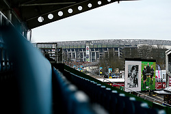 A general view of Twickenham Stoop, home to Harlequins, overlooked by Twickenham Stadium - Mandatory by-line: Robbie Stephenson/JMP - 16/02/2019 - RUGBY - Twickenham Stoop - London, England - Harlequins v Worcester Warriors - Gallagher Premiership Rugby