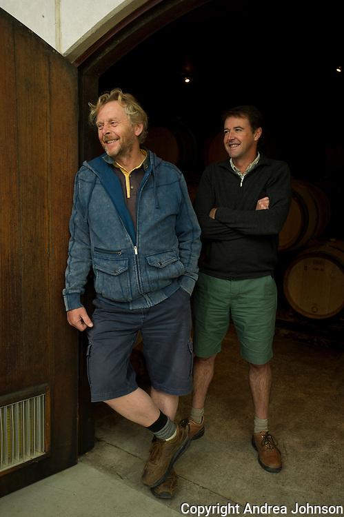 Blair Walter, winemaker (right) and Nigel Greening, proprietor (left), Felton Road, Central Otago, New Zealand