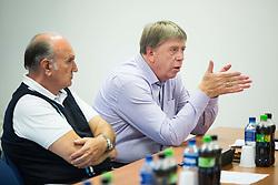 Ljubo Jasnic and Drago Bahun during meeting of Executive Committee of Ski Association of Slovenia (SZS) on September 22, 2015 in SZS, Ljubljana, Slovenia. Photo by Vid Ponikvar / Sportida