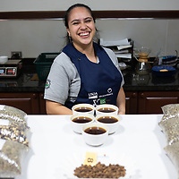 Gabriela Morán, 25, works at Molinos in the coffee lab where every batch of coffee is tested.