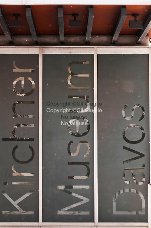 Suisse, canton des Grisons, ville de Davos, musée de l'expresionniste L.Kirchner sur la rue principale l'Oberstrasse Promenade // Switzerland, canton of Grisons, city of Davos, expresionist museum of L.Kircner on main street the Oberstrasse Promenade