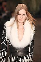 Mirte Maas walks down runway for F2012 Altuzarra's collection in Mercedes Benz fashion week in New York on Feb 10, 2012 NYC's
