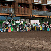 Riders are lined up before the beginning colors at the 2016 Darby MT EPB.  Josh Homer photo.  Photo credit must be given on all uses.