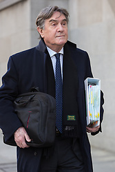 © Licensed to London News Pictures. 17/03/2014. London, UK. Timothy Langdale QC arrives at The Old Bailey in London this morning, 17th March 2014 for the Phone Hacking Trial. Photo credit : Vickie Flores/LNP