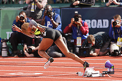 Sanya Richards-Ross, Women's 400 meters, champion, Olympian, sprints out of blocks