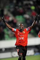 FOOTBALL - FOOT - FRENCH CUP - 2009/2010 - 100109 - RENNES v CAEN -  PHOTO PASCAL ALLEE / DPPI - JOY ISMAEL BANGOURA (RENNES) AFTER HIS GOAL
