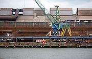 Heavy industry steel works in waterside location at Ablasserdam, Rotterdam Netherlands