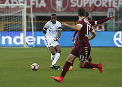 March 18, 2017 - Turin, Italy - Geoffrey Kondogbia in action during the Serie A match between FC Torino and FC Internazionale at Stadio Olimpico di Torino on March 18, 2017 in Turin, Italy. (Credit Image: © Loris Roselli/NurPhoto via ZUMA Press)
