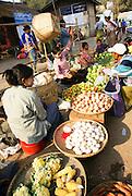 Myanmar, Bagan, vegetable market