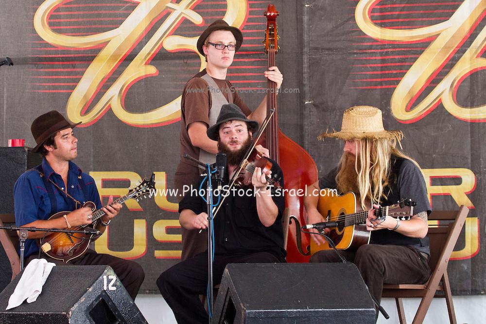 Hillbilly band at the 2011 Kentucky state fair. Kentucky, USA