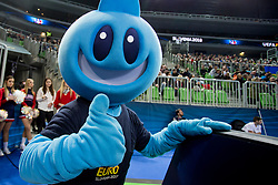 Offical mascot during futsal match between National teams of Ukraine and Portugal at Day 6 of UEFA Futsal EURO 2018, on February 4, 2018 in Arena Stozice, Ljubljana, Slovenia. Photo by Urban Urbanc / Sportida