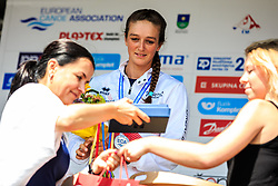 Franklin Mallory (GBR) medal ceremony after Finals during Day 2 of 2018 ECA Canoe Slalom European Championships, on June 2nd, 2018 in Troja , Prague, Czech Republic. Photo by Grega Valancic / Sportida