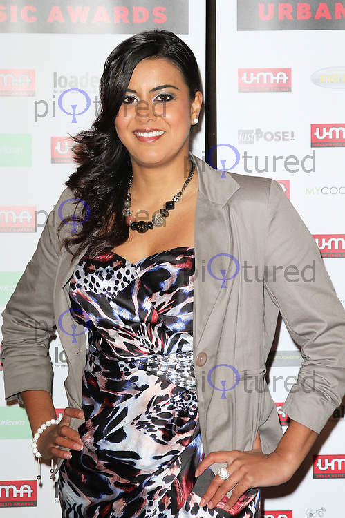 LONDON - DECEMBER 01: Pooja Shah attended the Urban Music Awards at The Porchester Hall, London, UK. December 01, 2012. (Photo by Richard Goldschmidt)