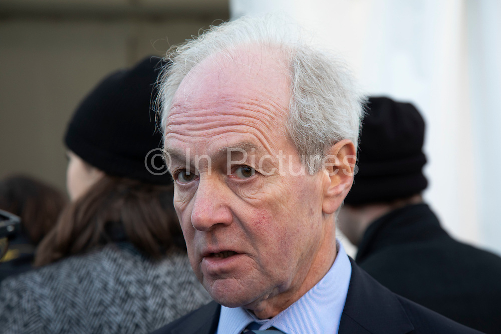 Lord Peter Lilley MP, gives an interview to the media on the day that Conservative Party MPs triggered a vote of no confidence in the Prime Minister on 12th December 2018 in London, England, United Kingdom.
