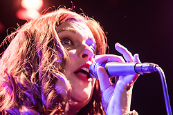 Old Town Hall, Stratford, London - 28 November 2015. Singers Marc Almond, Ronan Parke, Heather Peace and Asifa Lahore headline the Peter Tatchell Foundation's inaugural Equality Ball, a fundraiser for the foundation's LGBTI and human rights work, with guest of honour Sir Ian McKellen  joined by Michael Cashman. PICTURED:  The Delta Band performs for the crowd. //// FOR LICENCING CONTACT: paul@pauldaveycreative.co.uk TEL:+44 (0) 7966 016 296 or +44 (0) 20 8969 6875. ©2015 Paul R Davey. All rights reserved.