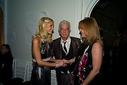PARIS HILTON; NICKY HASLAM; DUCHESS OF YORK, Nicky Haslam party for Janet de Botton and to celebrate 25 years of his Design Company.  Parkstead House. Roehampton. London. 16 October 2008.  *** Local Caption *** -DO NOT ARCHIVE-© Copyright Photograph by Dafydd Jones. 248 Clapham Rd. London SW9 0PZ. Tel 0207 820 0771. www.dafjones.com.