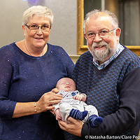 John Crowe with grandson and wife