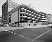 """Ackroyd 13228-1. """"Donald Drake & Co. Central Plaza Parking garage. April 11, 1965"""" (337 SW Alder. SW 4th between Washington & Alder)"""