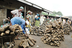 ABUJA, Sept. 10, 2010  People buy manioc at the Bodija Yam market in Ibadan, Nigeria, Sept. 9, 2010. Nigerian Muslims celebrated the Eid al-Fitr which marks the end of the holy fasting month of Ramadan. (Credit Image: © Xinhua via ZUMA Wire)