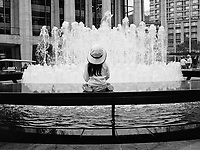 Mesmerized by the constantly changing flow of the water at Lincoln Center, New York City