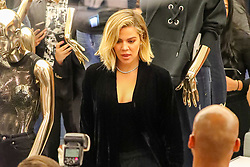 Khloé Kardashian is seen inside Bloomingdales store while promoting her Good Americano brand in New York City. 28 Oct 2017 Pictured: Khloé Kardashian. Photo credit: ZapatA/MEGA TheMegaAgency.com +1 888 505 6342