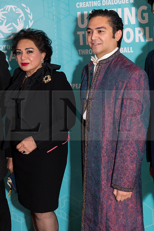 © Licensed to London News Pictures. 17/11/2017.  London, UK. HRH PRINCESS FAY JAHAN ARA OF JORDAN AND PRINCE A;EXANDER VON ARY OF CHILE attend the Football For Peace Inaugural Ball held at Guildhall. Photo credit: Ray Tang/LNP