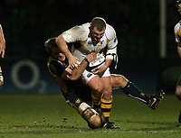 Photo: Rich Eaton.<br /> <br /> Worcester Rugby v London Wasps. Guinness Premiership. 26/01/2007. Tim Payne of Wasps is tackled by Worcesters Kai Horstmann