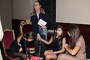 FRAN HICKMAN; GIANLUCA LONGO; CAROL SIEBER; MARGHERITA MISSONI, - IMG HERALD TRIBUNE HERITAGE LUXURY PARTY.- Celebration of Heritage Luxury and 10 years of the International Herald Tribune Luxury Conferences. North Audley St. London. 9 November 2010. -DO NOT ARCHIVE-© Copyright Photograph by Dafydd Jones. 248 Clapham Rd. London SW9 0PZ. Tel 0207 820 0771. www.dafjones.com.