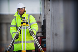Olympic Park Portrait. Portrait of engineers apprentice Abdulla Abdilahi in the Handball Arena on the Olympic Park. Picture taken on 08 Jan 2010 by David Poultney.