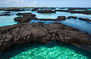 Lava formations on Isabela Coastline<br /> SE Isabela Island<br /> Galapagos Islands<br /> ECUADOR.  South America