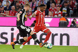 14.04.2018, Allianz Arena, Muenchen, GER, 1. FBL, FC Bayern Muenchen vs Borussia Moenchengladbach, 30. Runde, im Bild vl. Thorgan Hazard (Borussia Moenchengladbach #10) und David Alaba (FC Bayern Muenchen) // during the German Bundesliga 30th round match between FC Bayern Munich and Borussia Moenchengladbach at the Allianz Arena in Muenchen, Germany on 2018/04/14. EXPA Pictures © 2018, PhotoCredit: EXPA/ Eibner-Pressefoto/ Stuetzle<br /> <br /> *****ATTENTION - OUT of GER*****