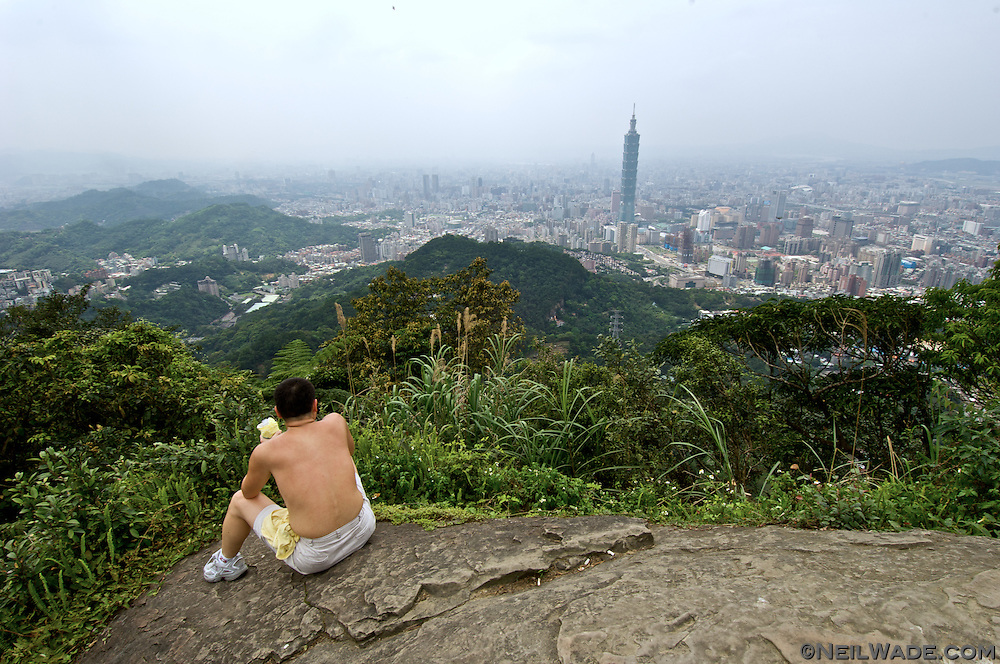 """""""95 Peak"""" is a small mountain next to Taipei, Taiwan.  It's ans easy climb from the city center and has beautiful views."""