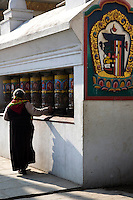 Swayambhunath Temple is one of the liveliest Buddhist temples in Kathmandu if not all of Nepal. Many Tibetans live in the area, and make their daily 'kora' or procession around the temple, turning prayer wheels as they pass.