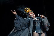 Grace Jones headlines the main stage at On Blackheath festival at Blackheath Common on 14th July, 2019 in London, United Kingdom.