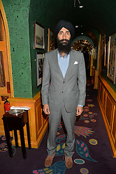 WARIS AHLUWALIA at a Thanksgiving dinner hosted by Alexander Gilkes of Paddle8 at Annabel's, 44 Berkeley Square, London on 23rd November 2016.