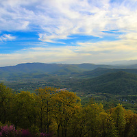 """""""Chasing Light in Shenandoah""""<br /> <br /> Beautiful end to a spring day in the Blue Ridge Mountains of Virginia!!<br /> <br /> The Blue Ridge Mountains by Rachel Cohen"""