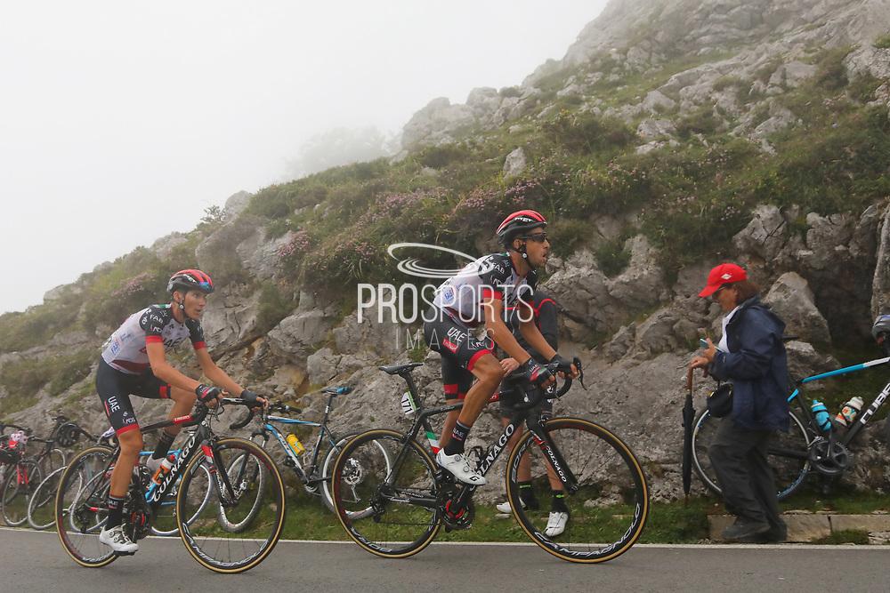 Fabio Aru (ITA, UAE Team Emirates)) during the 73th Edition of the 2018 Tour of Spain, Vuelta Espana 2018, Stage 15 cycling race, 15th stage Ribera de Arriba - Lagos de Covadonga 178,2 km on September 9, 2018 in Spain - Photo Kei Tsuji/ BettiniPhoto / ProSportsImages / DPPI