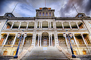 An HDR image of the I'olani Palace in Honolulu, Hawaii.