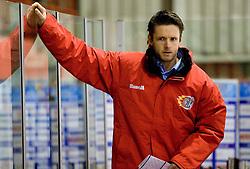 Assistant coach of Jesenice Dejan Varl at 28th Round  ice hockey match of EBEL league between HK Acroni Jesenice and HDD Tilia Olimpija Ljubljana, on December 4, 2009, in Arena Podmezaklja, Jesenice, Slovenia. Olimpija defeated Jesenice 8-7. (Photo by Vid Ponikvar / Sportida)