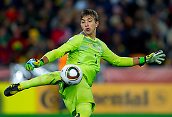 Goalkeeper of Uruguay Fernando Muslera during the  2010 FIFA World Cup South Africa Quarter Finals football match between Uruguay and Ghana on July 02, 2010 at Soccer City Stadium in Sowetto, suburb of Johannesburg. Uruguay defeated Ghana after penalty shots. (Photo by Vid Ponikvar / Sportida)