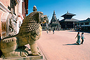 Darbar Square and Temple in Bhaktapur,Nepal