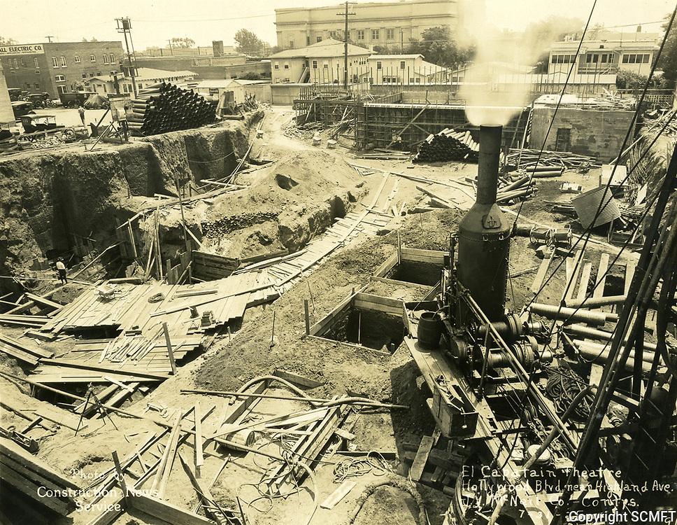 7/31/1925 Construction of the El Capitan Theater